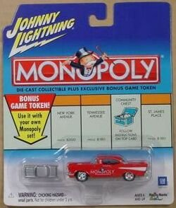 Buy Johnny Lightning 2001 Monopoly Illinois Ave '57 Chevy Car