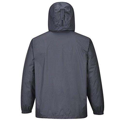 COX SWAIN Herren Outdoor Funktions Regenjacke GALE 8.000mm Wassersäule + 5.000mm atmungsaktiv, Farbe: Grey, Größe: L -