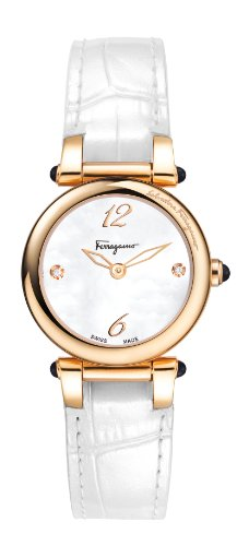 Ferragamo Women's F79SBQ5091I SB01 Poema Gold Ion-Plated Stainless Steel Mother-Of-Pearl Watch