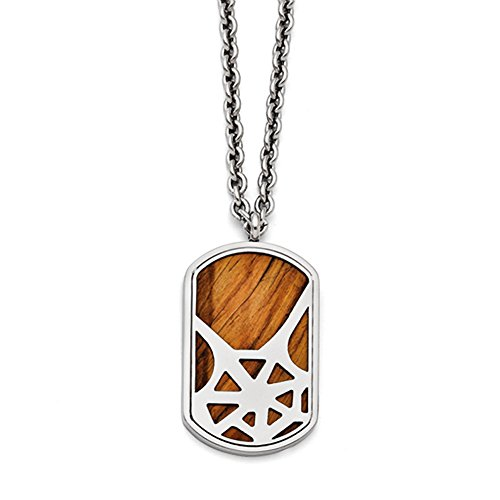 Stainless Steel Tiger'S Eye Polished Dog Tag Necklace, 24 inch, Chains and Necklaces for Women