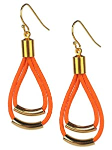 Cord Drop Earring - Orange
