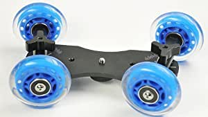 Pico Flex Skater Dolly DSLR Camera Floor Table Dolly Video Slider Track and Case by ePhotoInc PICODOLLY