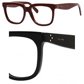 Ladies Plastic Eyeglass Frames : Celine Womens 41343 Black Frame Plastic Eyeglasses ...