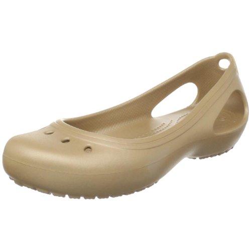 crocs Women's Kadee Ballet Flat,Gold/Gold,5 M US