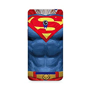 Mobicture Superman Body Premium Printed Case For Asus Zenfone 5