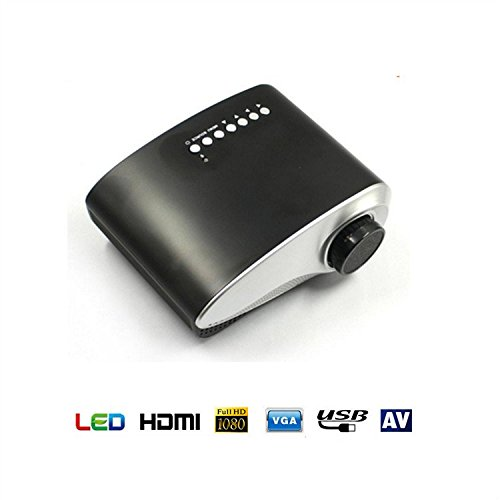 Mini Projector, Kingcenton Portable Projector LED Multimedia Video LCD Support 1080p 720p Home Cinema / IOS / Andorid / Laptop Computer Mobile (Black)