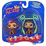 Littlest Pet Shop Pet Pairs - Fun Jungle Gym - 2 Monkeys Figure
