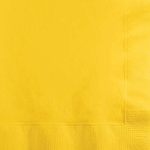 "Creative Converting Touch of Color Value Pack 150-Count 2 Ply 9 7/8"" x 9 7/8"" (School Bus Yellow)"