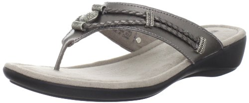 Minnetonka Women's Silverthorne Signature Collection Sandal,Pewter,8 M US