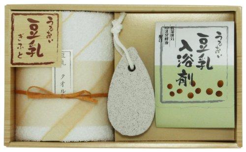 豆乳ギフト JTNー801 ウォッシュタオル×1 入浴剤×1 軽石×1