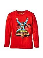 Fantasia Camiseta Manga Larga Superman (Rojo)