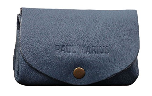 LE GUSTAVE sbiadita blu portafoglio in pelle stile monedero epoca PAUL MARIUS