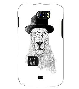 PrintDhaba Lion Sketch D-1060 Back Case Cover for MICROMAX A110Q CANVAS 2 PLUS (Multi-Coloured)