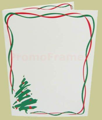 HOLIDAY TREE FOLDER WHITE 4x6 Paper Photo Frames