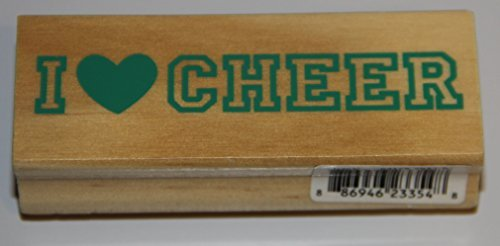 Recollections, I Heart Cheer Rubber Stamp - 1