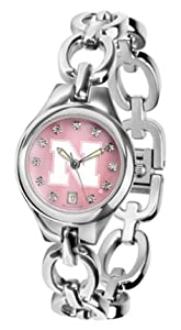 Nebraska Cornhuskers Eclipse Ladies Watch with Mother of Pearl Dial by SunTime