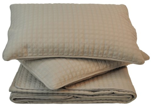 Sleeping Partners Squares Quilt/Sham Set, King