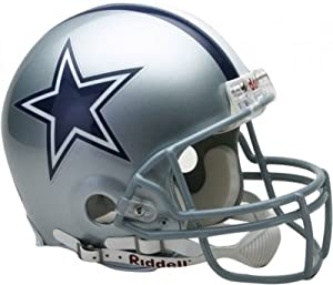 Dallas Cowboys Authentic Full Size Pro Line Unsigned Riddell Helmet by The Sports Mix