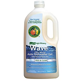 Earth Friendly Products Proline PL9754/08 Wave Gel Free and Clear Detergent with Rinse Aid, 40oz Handle Bottles, For Automatic Dishwashing Machinery (Case of 8)
