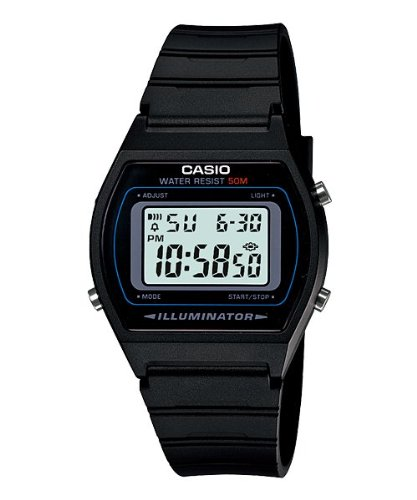 Casio W-202-1AV Men's Black Classic Digital Sports Watch