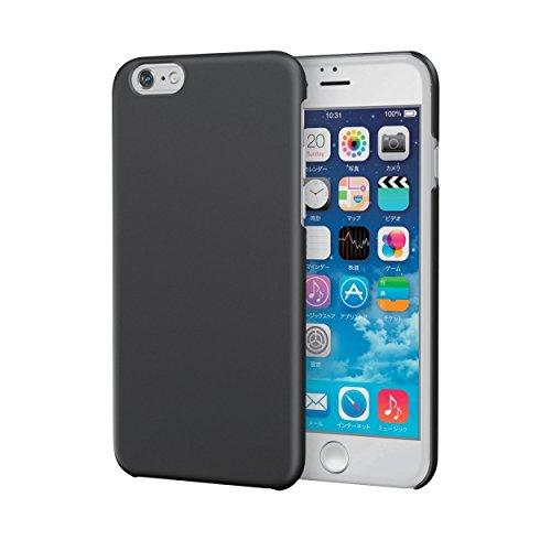 ELECOM iPhone 6s/6 対応 シェルカバー ラバーコート ラバーブラック  PM-A15PVRBK