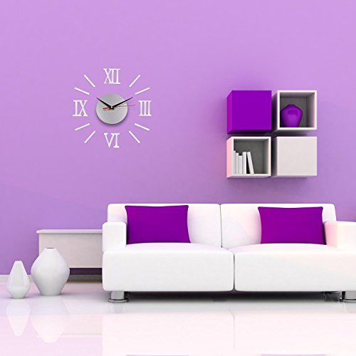 Lifeup orologio da parete moderni design silenzio numeri - Unghie effetto specchio fai da te ...