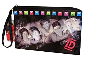 One Direction 1D Wristlet Purse - Cosmetic Case - Pencil Case from Accessory Innovations