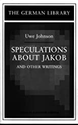 Speculations About Jakob and Other Writings (German Library)