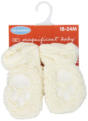 Magnificent Baby Unisex-Baby Infant Smart Mittens, Cream, 6-12 Months