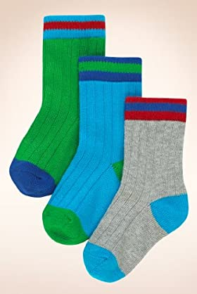 5 Pairs Of Younger Boys' Autograph Cotton Rich Assorted Socks