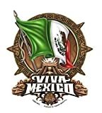 Mindful Designs - Viva Mexico Flag, Chichen Itza, Mayan Symbol - Sticker / Decal - UV In/Out Weather Protected, Extra Long Lasting