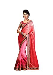 Bikaw Embroidered Pink Chiffon Party Wear Saree - BT-2525-H