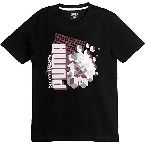 PUMA-CLOTHING FRACTURED CRAPHIC TEE 570609-02 SIZE M