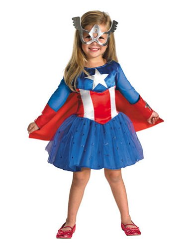 Captain America Daughter Toddler Costume 3T-4T - Toddler Halloween Costume