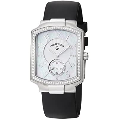 Philip Stein Women's 21D-FMOP-RB Classic Black Rubber Strap Watch