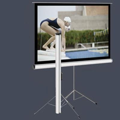 "Elite Screens T99NWS1 Tripod Portable Projection Screen (99 inch Diag. 1:1 Viewable 70"" H X 70"" W White Casing)"