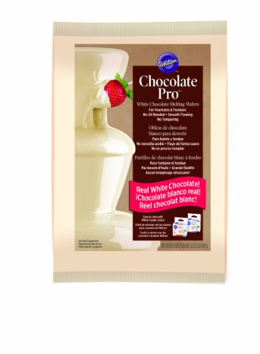 Wilton 2104-2619 White Chocolate Pro Melting Chocolate Wafers