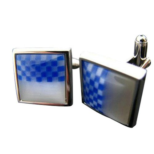 Worldfashion Dream Blue Creative Stone Checked Men's Cufflinks Come In a Nice Gift Box by WorldFashion