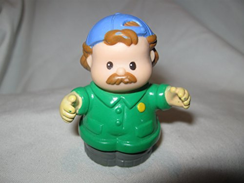 Fisher Price Little People Mechanic Jack GREEN JUMPSUIT Car Wash Garage Tow Truck Driver Dad OOP 1997 - 1
