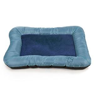 PAW Plush Cozy Pet Crate/Pet Bed, X-Large, Blue