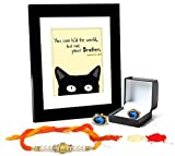 Tied Ribbons Rakshabandhan Gifts For Brother Combo (Finest Rakhi with Cufflinks and Photo Frame 27cm x 22cm )