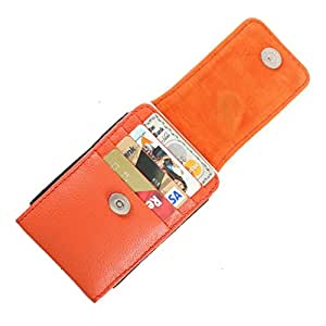 DooDa Genuine Leather Pouch Case Cover With Magnetic Closure For Gionee Pioneer P4