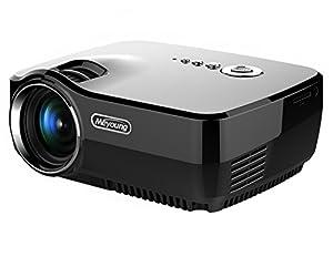 HD Mini Projecteur Portable, Meyoung LED Pico Projector gp70 Full Color 150 pouces Home Cinema 800 * 600 Résolution 1080p Projecteurs vidéo pour les films, la télévision, du Parti et Jeux, Noir