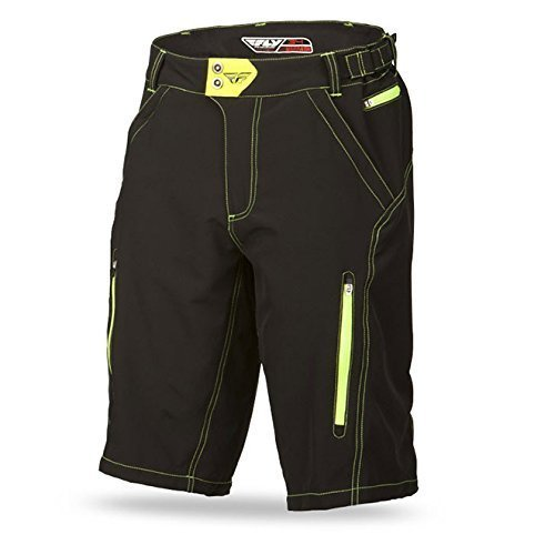 Fly 2015 MTB-short WARPATH - nero-Neon