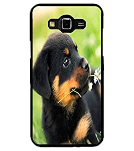 ColourCraft Cute Puppy Design Back Case Cover for SAMSUNG GALAXY GRAND 3
