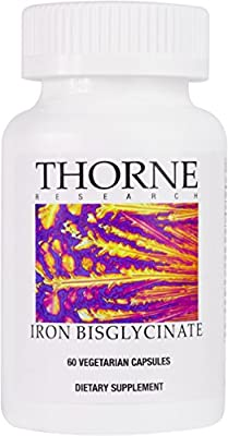 Thorne Research - Iron Bisglycinate - 25 mg Supplement for Enhanced Iron Absorption - 60 Capsules by Thorne Research
