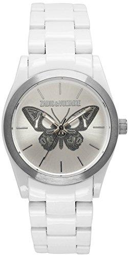 Zadig & Voltaire  - Reloj de cuarzo para mujer, correa de plástico color blanco
