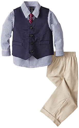 Nautica Baby Boys' Twill Vest Set, Khaki, 24 Months