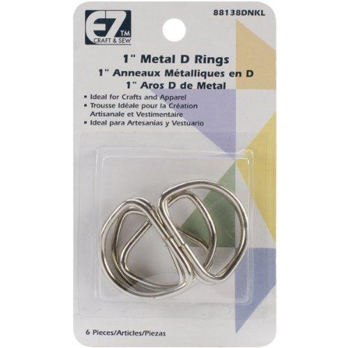 Wrights 38D-N Metal D-Rings, 1-Inch, Nickel