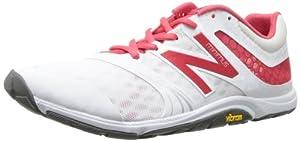 New Balance Women's WX20 Minimus Cross Training Shoe,White/Pink,10.5 B US